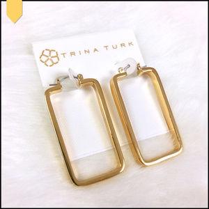 $78 Trina Turk gold Plated drop Chandelier earrings NWT